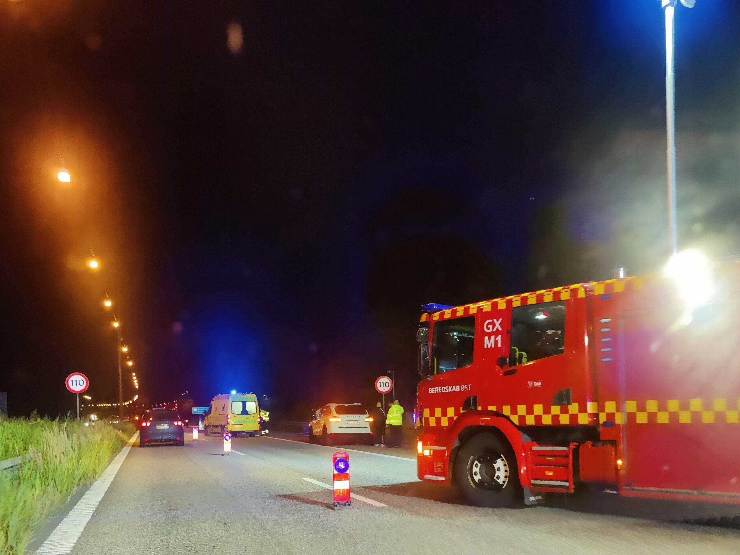 Færdselsuheld på Hillerødmotorvejen