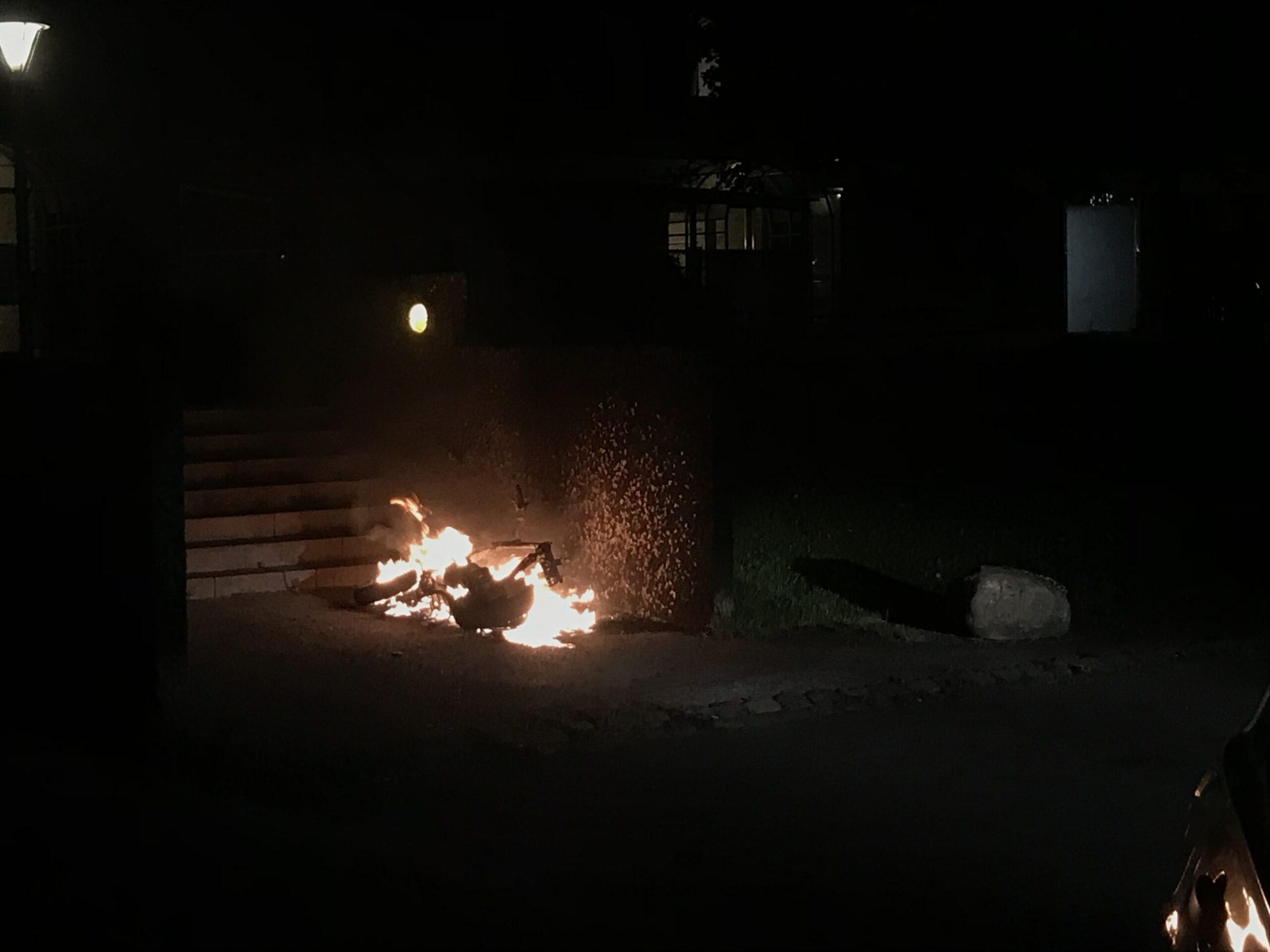 Knallert brændt af i Odense