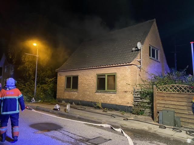 Brand i forladt hus i Sæby