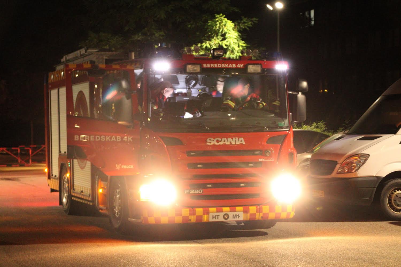 Brandvæsnet kaldt ud til melding om brand
