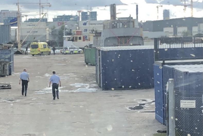 Politi til stede ved Nordhavn i København