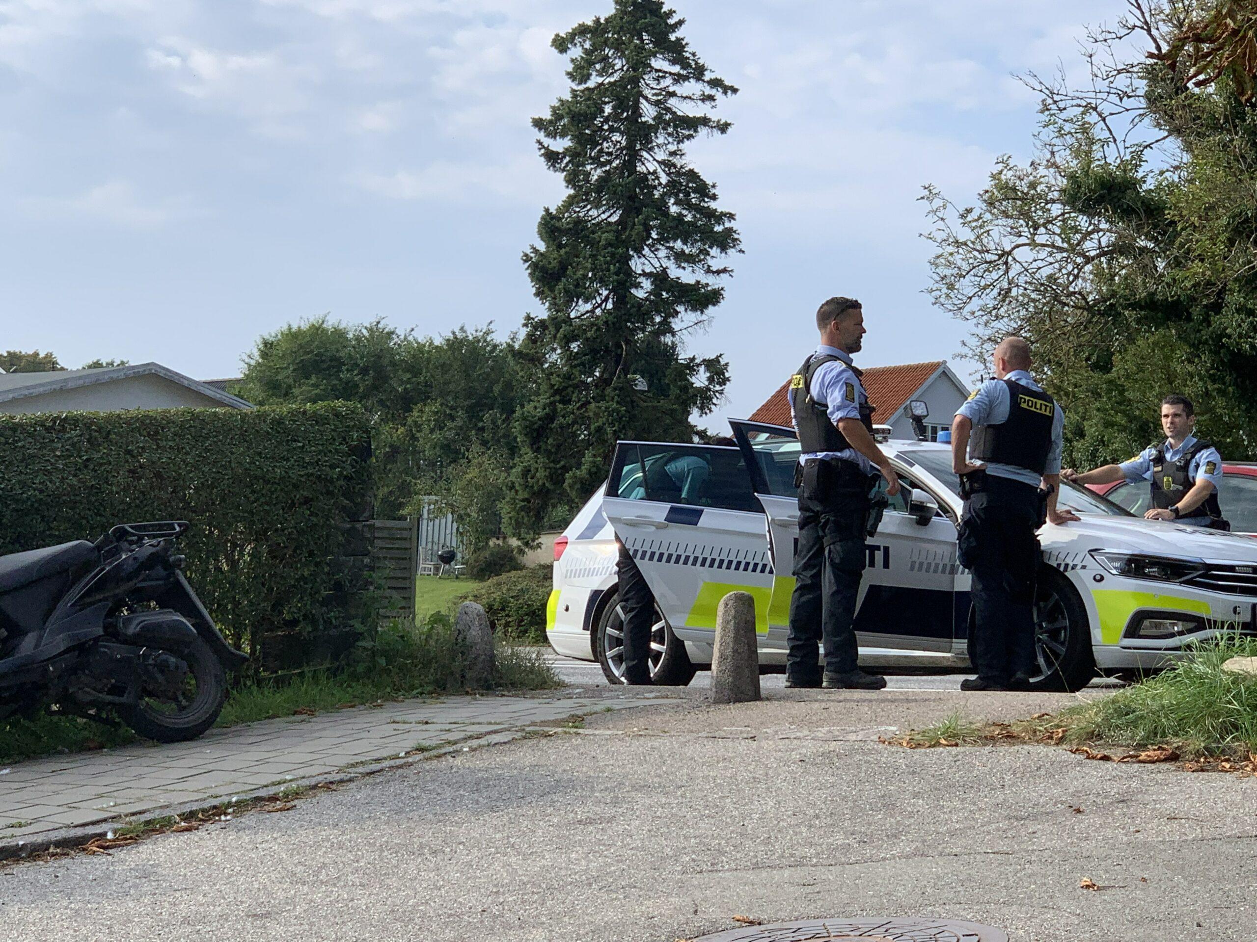 Ung mand anholdt på scooter i Helsingør