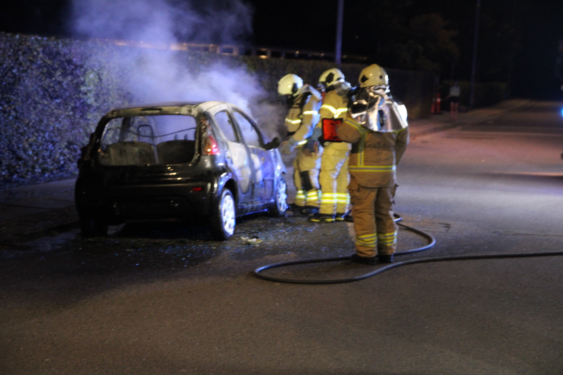 Mulig påsat bilbrand - politiet søger spor