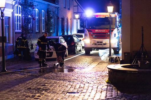 Melding om brand i bygning i Viborg - flere slukningskøretøjer fremme