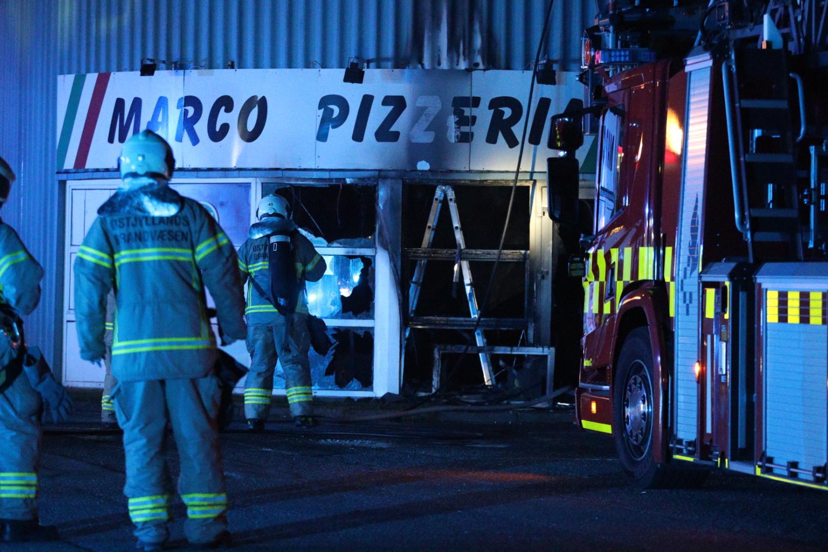 Alvorlig brand i pizzeria i Lystrup - udbrændt