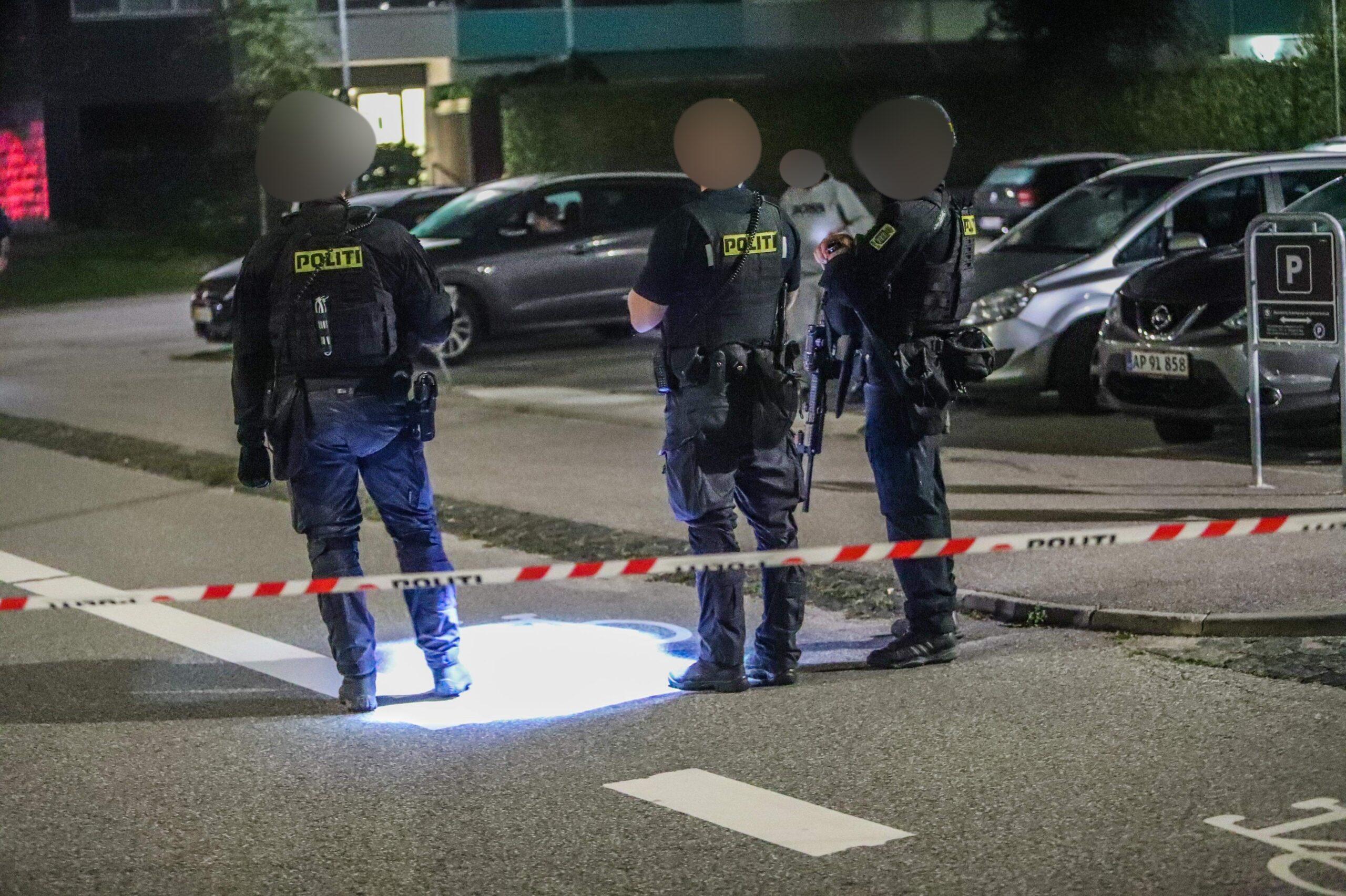 Skyderi i Brøndby - politiet talstærkt til stede