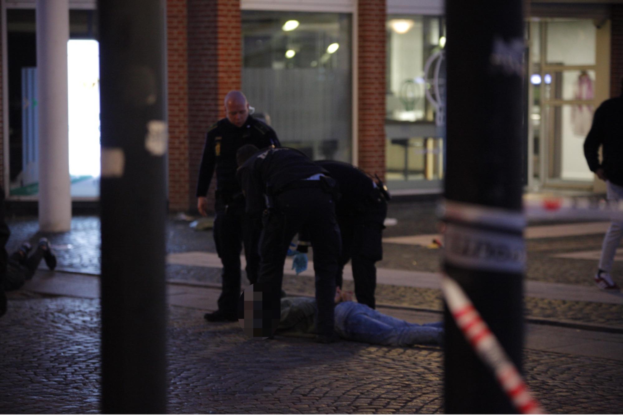 Slagsmål og anholdelser i Esbjerg