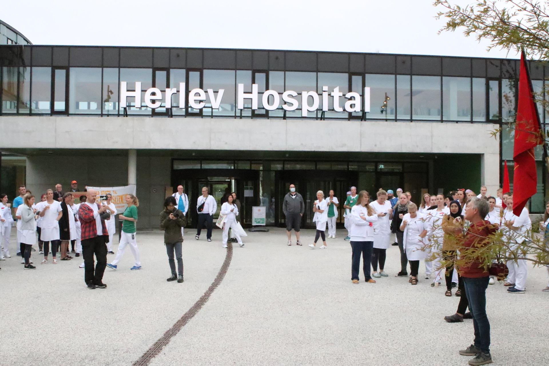 Strejke på Herlev sygehus - får støtte af udefrakommende