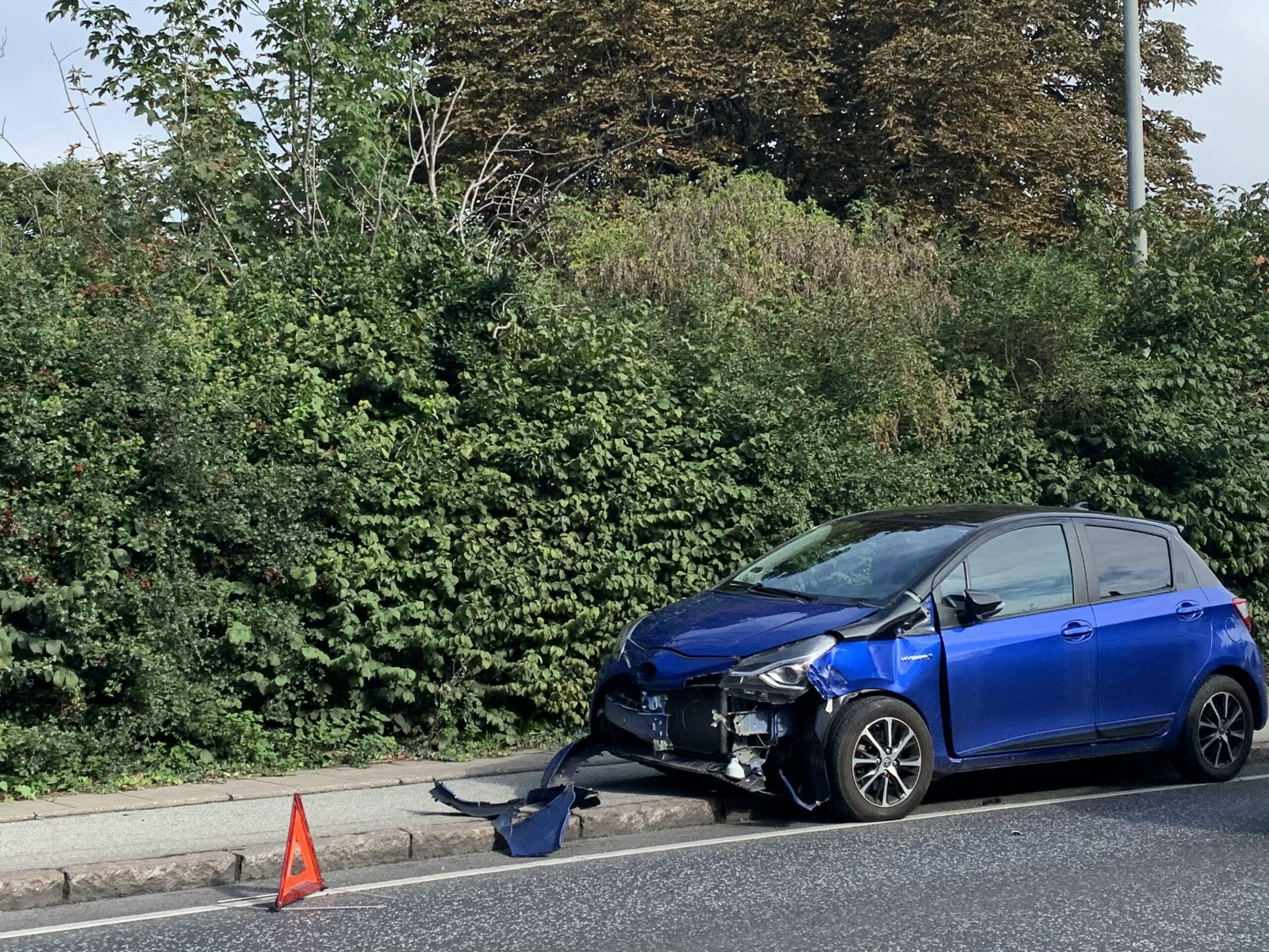 Færdselsulykke: To biler i sammenstød i Helsingør
