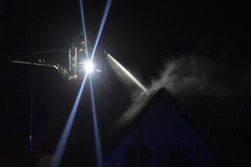 Større villabrand i Vojens - brandvæsnet talstærkt til stede