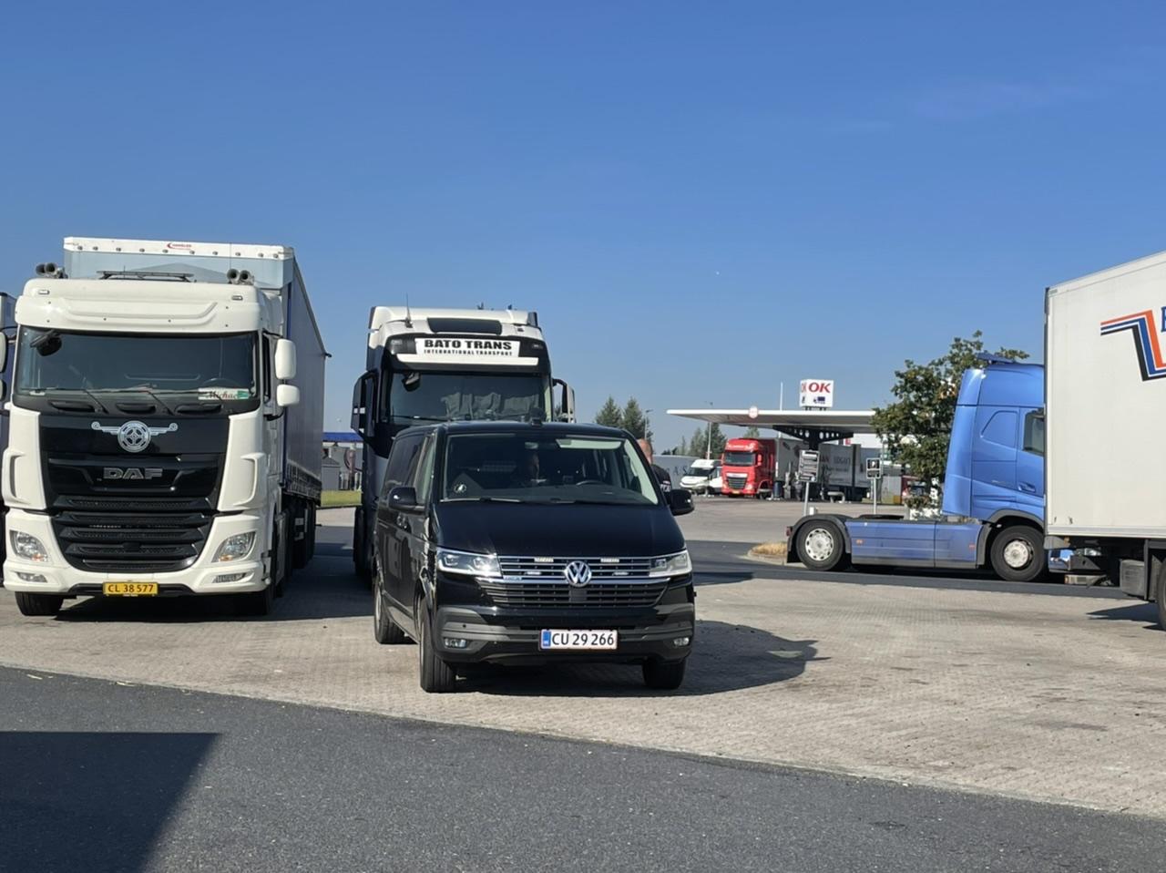 Lastbilkontrol på Køge bugt motorvejen