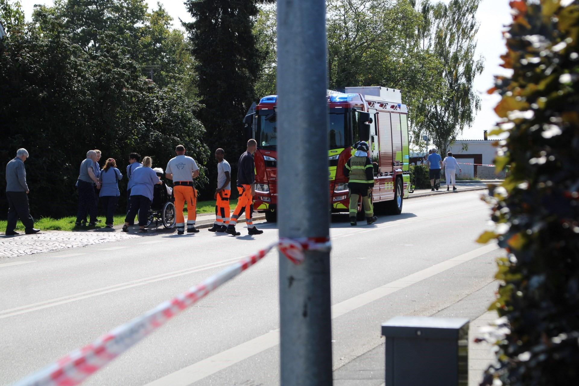Brud på gasledning ved Roskilde - plejehjemsbeboere evakueret