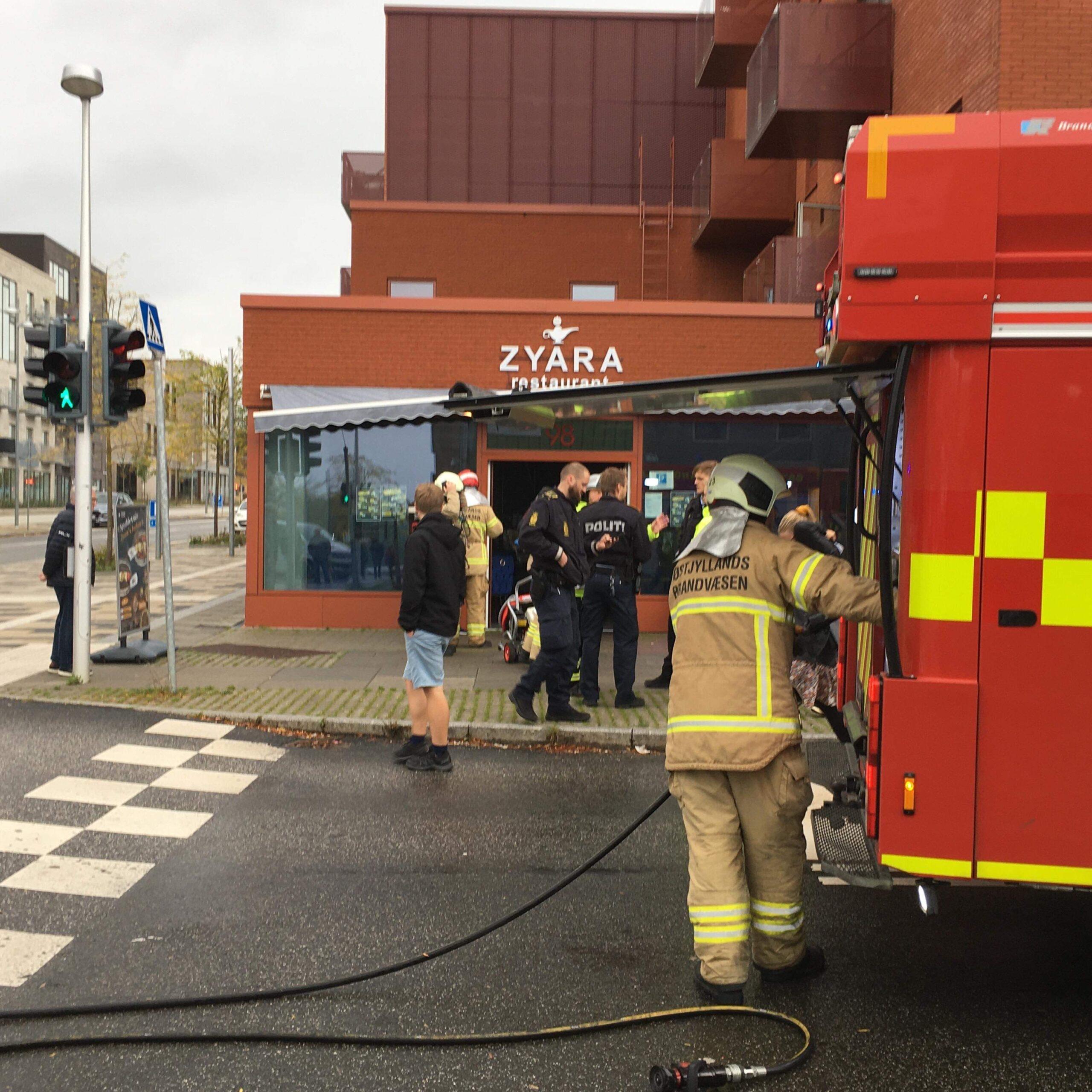 Mindre brand i restaurant i Brabrand