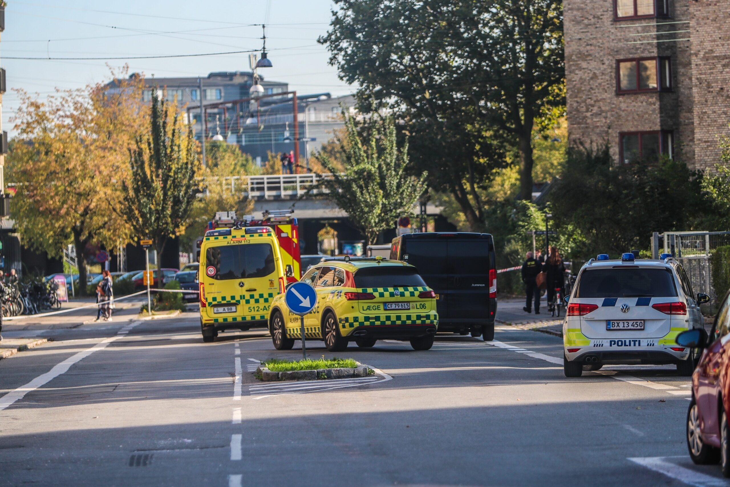 Politi og redning massiv til stede i København