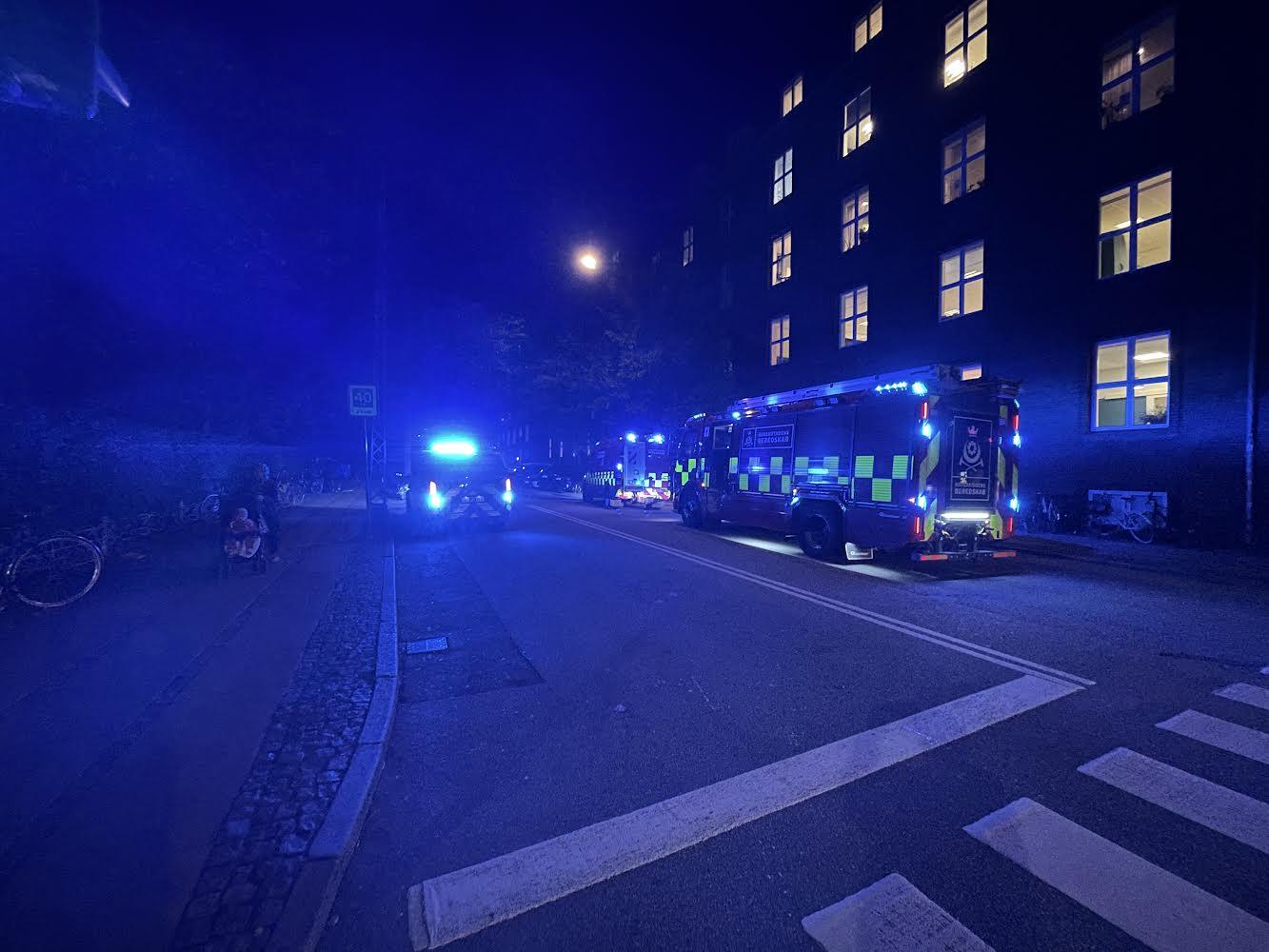 Brandvæsnet til stede ved Café i København