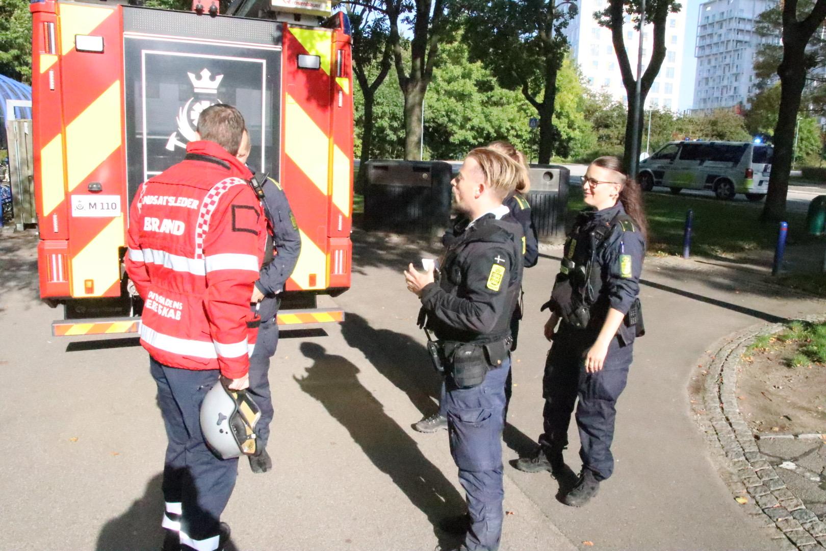 Brandvæsnet talstærkt til stede i Brøndby